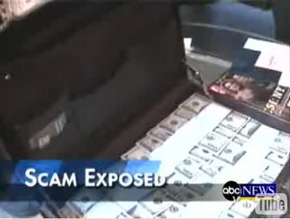 Black Money Scammers filmed on ABC News
