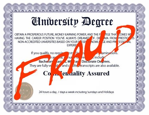 Fake University Degree Scam